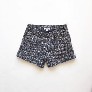 3pommes black/white lined tweed shorts EUC 4-5T